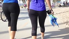 Yoga pants- Thick athletic ass babe