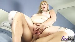 amazon blonde BBW Lila Lovely gets fucked