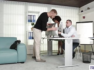 Have sex with a Bisexual office workers have sex with a beautiful ebony