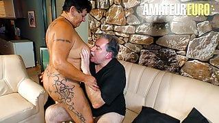 AmateurEuro - BBW Wife Angelika K. - First Time On A Porn Set