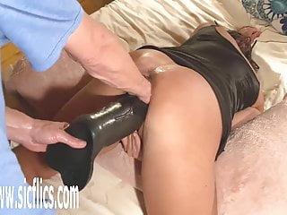 Giant dildo fucking - Double fist and xxl dildo fucking giant pussy