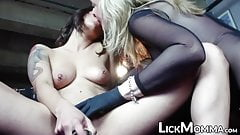 Stepmom toy fucking her stepdaughter and her friend