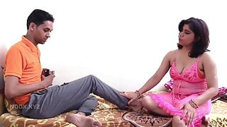 Two Indian milfs fucked by a young guy in movie- Man ki baat