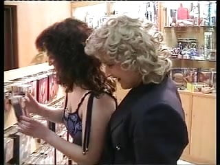 Lesbian shopping Woman-woman scene from: marta in oporto sex shop. hq-pt