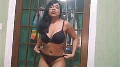 Indian College girl selfie nude show