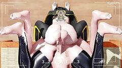 Futanari MMD HENTAI - Nyakumi - Threesome