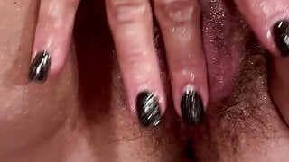 Wife fingering her clit