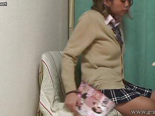 Under teen girl - Japanese schoolgirl caught masturbating under desk
