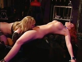 Big mouth redhead Slut getting her mouth and cunt filled with dildo