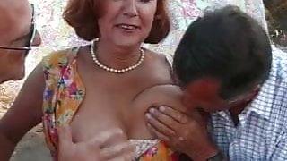 Hot Mom in Mature Threesome
