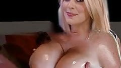 Holly gets her tits slapped with cock