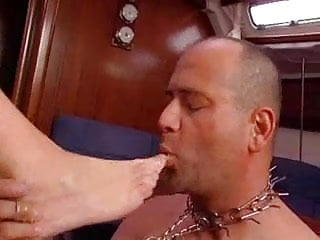 Bottom line boat Valerie de winter german milf and her slave assfuck on a boat troia
