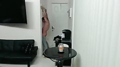 Fit guy with tattoos visits the gloryhole
