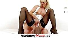 Hot legs blonde milf Koko stockings and facesitting
