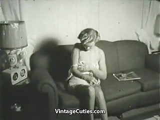 Vintage at spokane apartments Blonde undresses in her apartment 1950s vintage