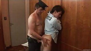 Horny daddy cop fuck kinky gay twink
