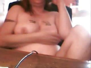 Mum caught us fucking - Nasty mum caught masturbating at telephone
