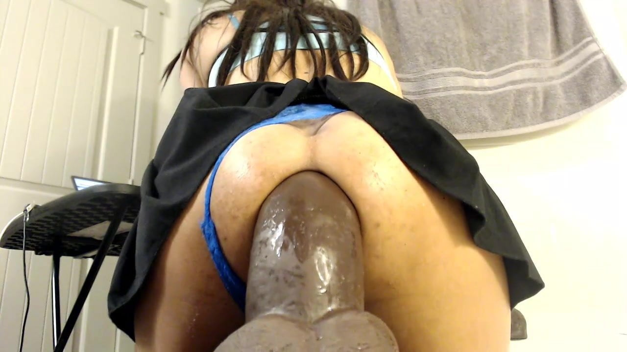 Ebony Anal Dildo Webcam