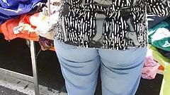Granny Big And Wide Ass Voyeur