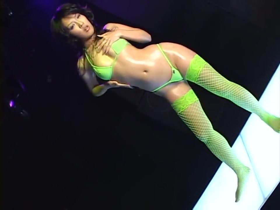 minaki saotome micro bikini oily dance