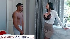 Naughty America - Jasmine Jae Fucks her son's friend for being nosy