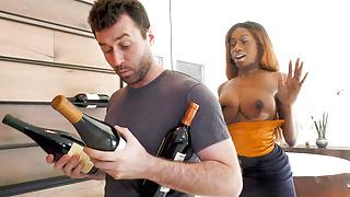 Wine Consultant Kinsley Karter Takes James Deen Cock