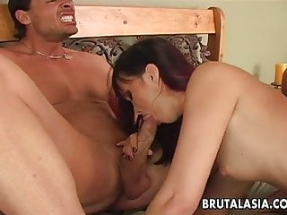Asian bombe chest Sex bomb has an anal threesome fuck to go through
