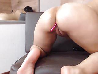 Hot latinas with big ass Hot sexy latina with big ass vs dildo on cam