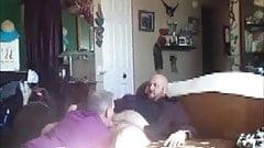 Big Bald Car Dealer Breeds Daddy at Lunch