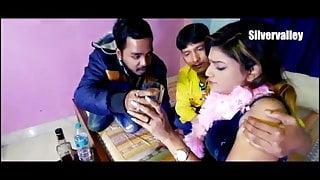 Indian Girl has threesome Hardcore sex