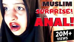 Girl with a big ass in a hijab gets hardcore anal