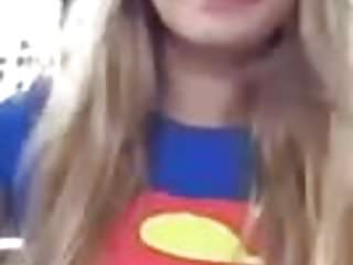 Superman sex prank Trisha annabelle smoking in superman outfit outside