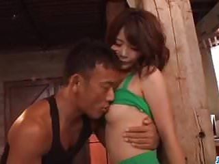 Who started asian boyz gang abz Yura kurokawa grabs huge dick and starts riding it hard