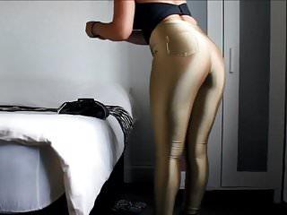 Shiny ass raw - Shiny spandex
