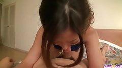 Yui Nanase provides adorable POV cock sucking scenes