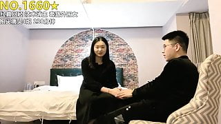 NO.1660 Chinese PUA sex, girl with natural tits fucked by playboy
