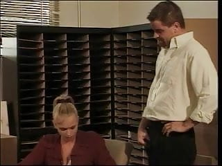 Office porn nice - Blonde hottie with nice naturals sucks fucks a big hard cock in office