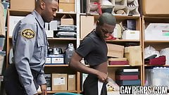 Young black bitch disciplined by BBC law enforcement officer