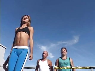 Extrem aerobic porn - Naughty bisex aerobic orgy