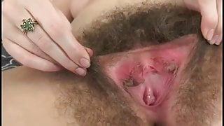 Big hairy cunt with long labia