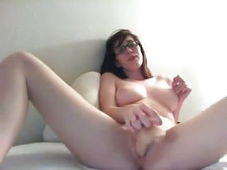 Nerdy girl nudes - Busty nerdy girl masturbating on cam