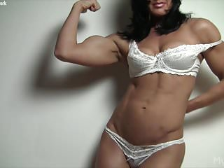 Female with big clit - Naked female bodybuilder and her big clit
