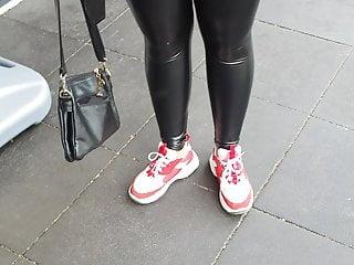 Liquid latex free porn tubes Teen in tight leather liquid leggings