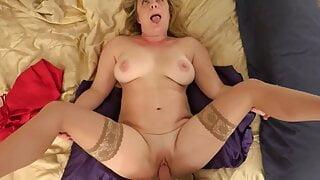 Naughty Stepmom gets a mother's day massage POV