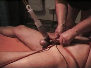 Cock torture with knife - Hard cock torture