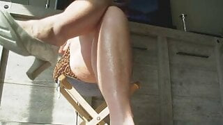 High heeled and tapping my heels in the sun