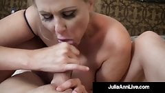 Damn! Milf Julia Ann Mouth Fucks Cock & Gets Facial!