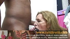 Very hairy Euro amateur mature first time