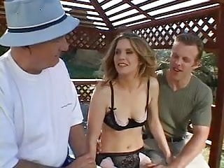 Watch her video fucking horny Horny wife deep throats a hard cock while her older husband watches