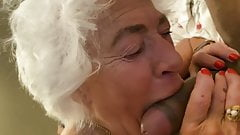 80YO GRAY HAIRED GRANNY SUCKING COCK